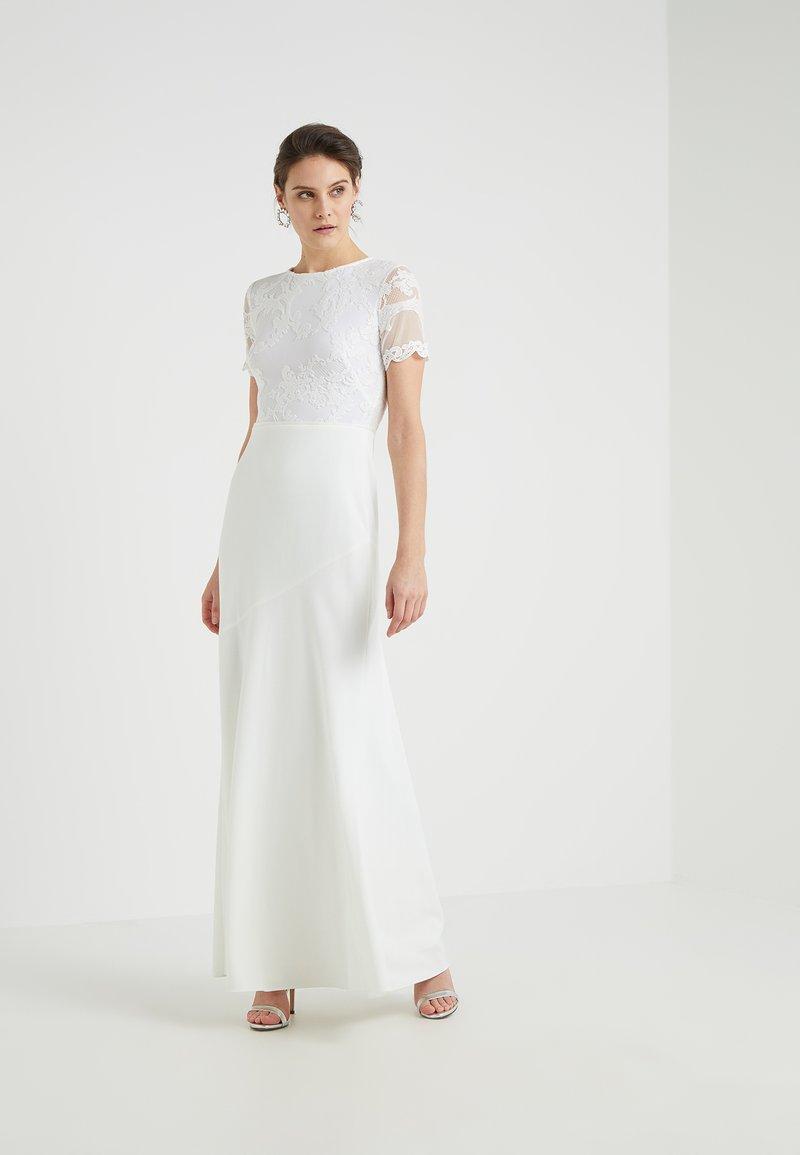 Lauren Ralph Lauren - BRINLEY SHORT SLEEVE EVENING DRESS - Robe de cocktail - cream