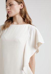 Lauren Ralph Lauren - ELLEE SHORT SLEEVE DAY DRESS - Juhlamekko - cashew - 4