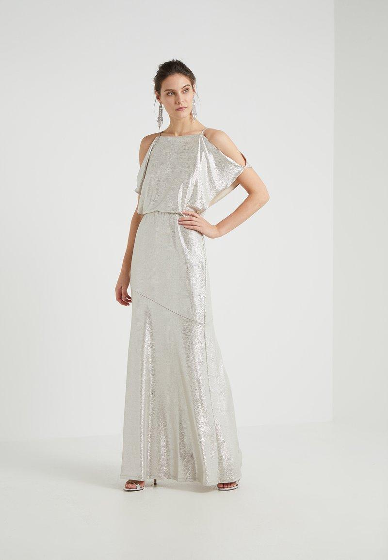 Lauren Ralph Lauren - ZELDER EVENING DRESS - Ballkleid - champagne/silver