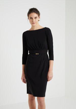 VIVIANA SLEEVE DAY DRESS - Jersey dress - black