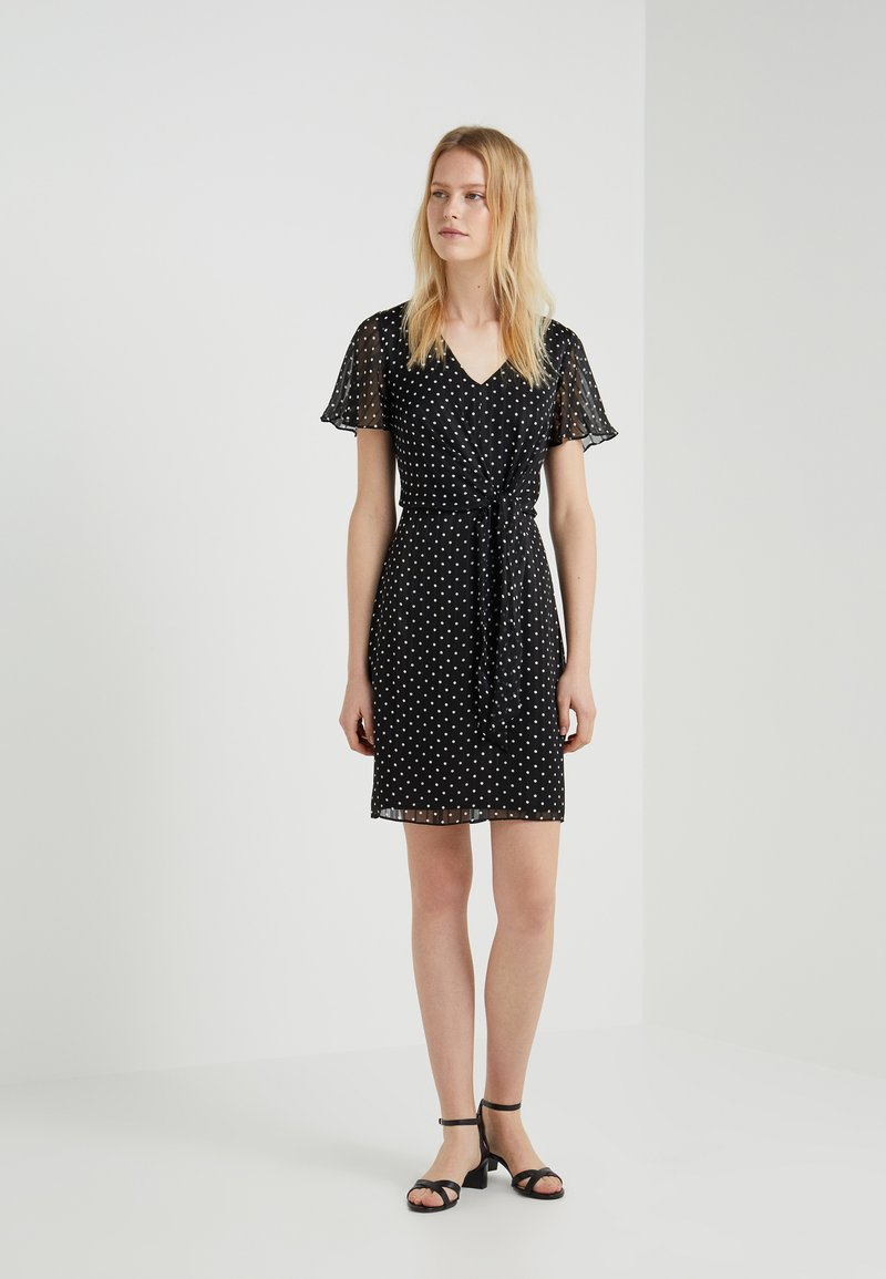 Lauren Ralph Lauren - DEVIN SLEEVE DAY DRESS - Sukienka letnia - black/colonial cream