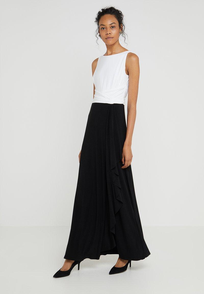 Lauren Ralph Lauren - FAHRO SLEEVELESS EVENING DRESS - Maxikjoler - black/white