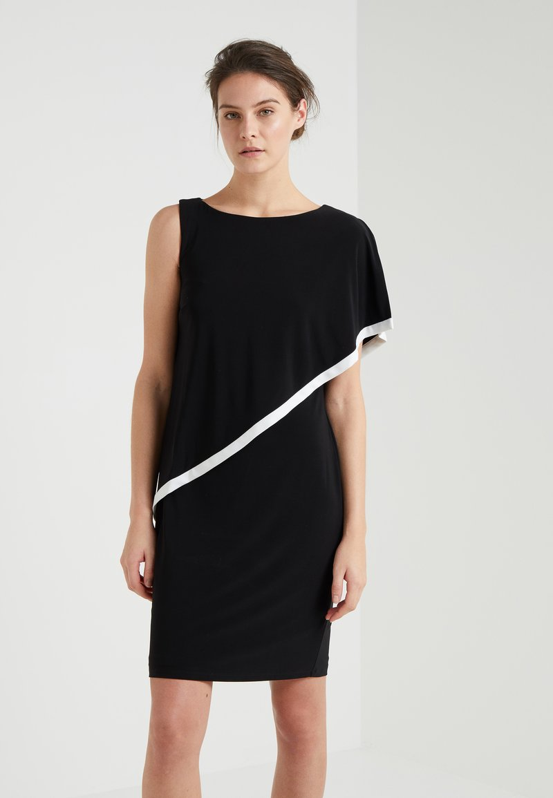 Lauren Ralph Lauren - NANDRU SLEEVELESS DAY DRESS - Jersey dress - black/white