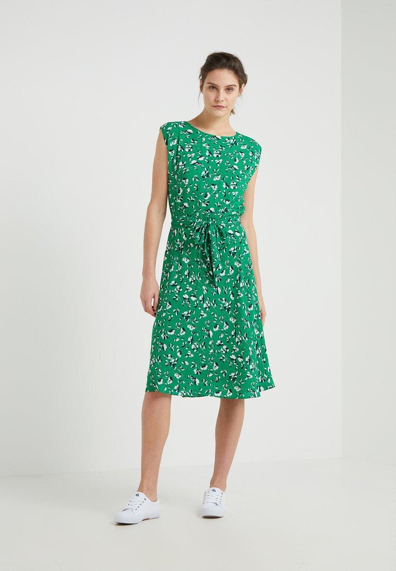 Lauren Ralph Lauren - VILODIE SHORT SLEEVE CASUAL DRESS - Day dress - cambridge green /multi