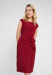 Lauren Ralph Lauren - LOTTI DOT VIMAJA - Jersey dress - bordeaux - 0