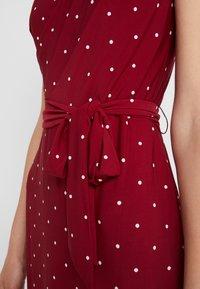 Lauren Ralph Lauren - LOTTI DOT VIMAJA - Jersey dress - bordeaux - 5