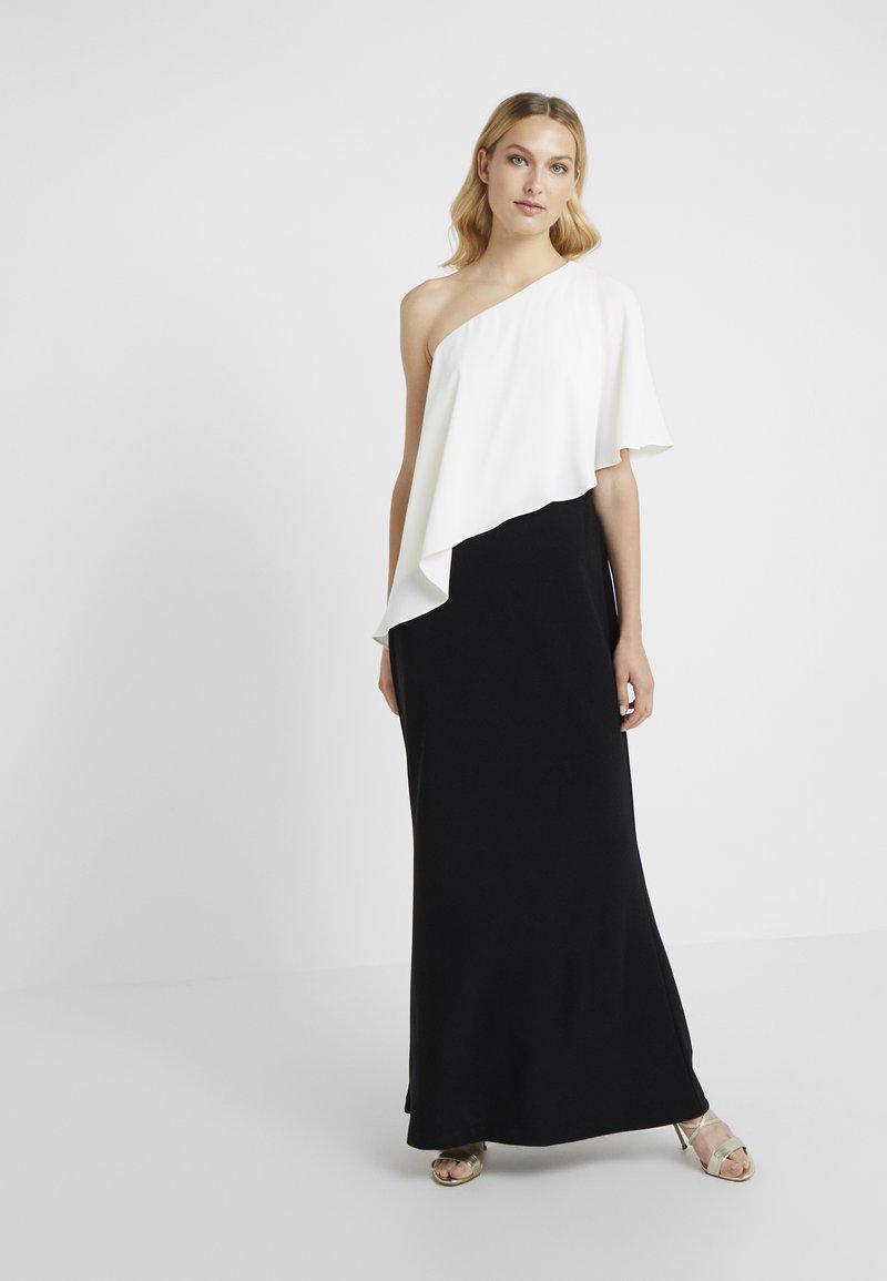 Lauren Ralph Lauren - BONDED NENE COMBO - Maxi dress - black/white