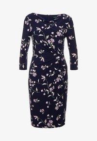 Lauren Ralph Lauren - FLING TRAVA - Pouzdrové šaty - navy/purple - 4