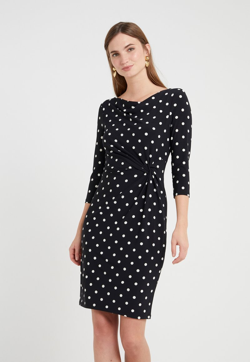 Lauren Ralph Lauren - DRIVER DOT TRAVA - Robe en jersey - black/colonial