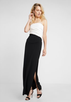LUXE TECH TICHINA - Robe longue - black/white