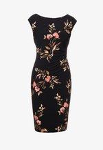 NEW NOVELLINA - Robe fourreau - black/pink/multi