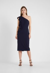 Lauren Ralph Lauren - LUXE TECH LARIS - Robe fourreau - lighthouse navy - 0