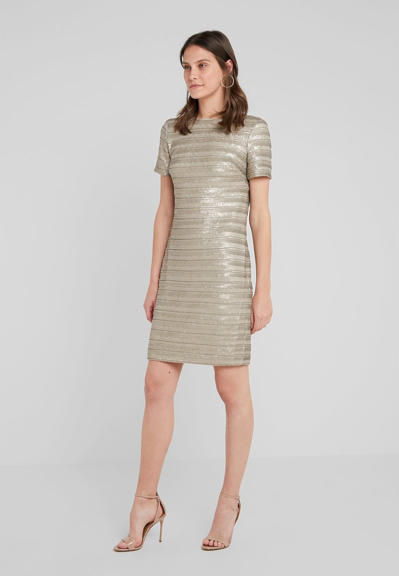 Lauren Ralph Lauren - SEQUIN DESMONDA - Cocktail dress / Party dress - champagne matte