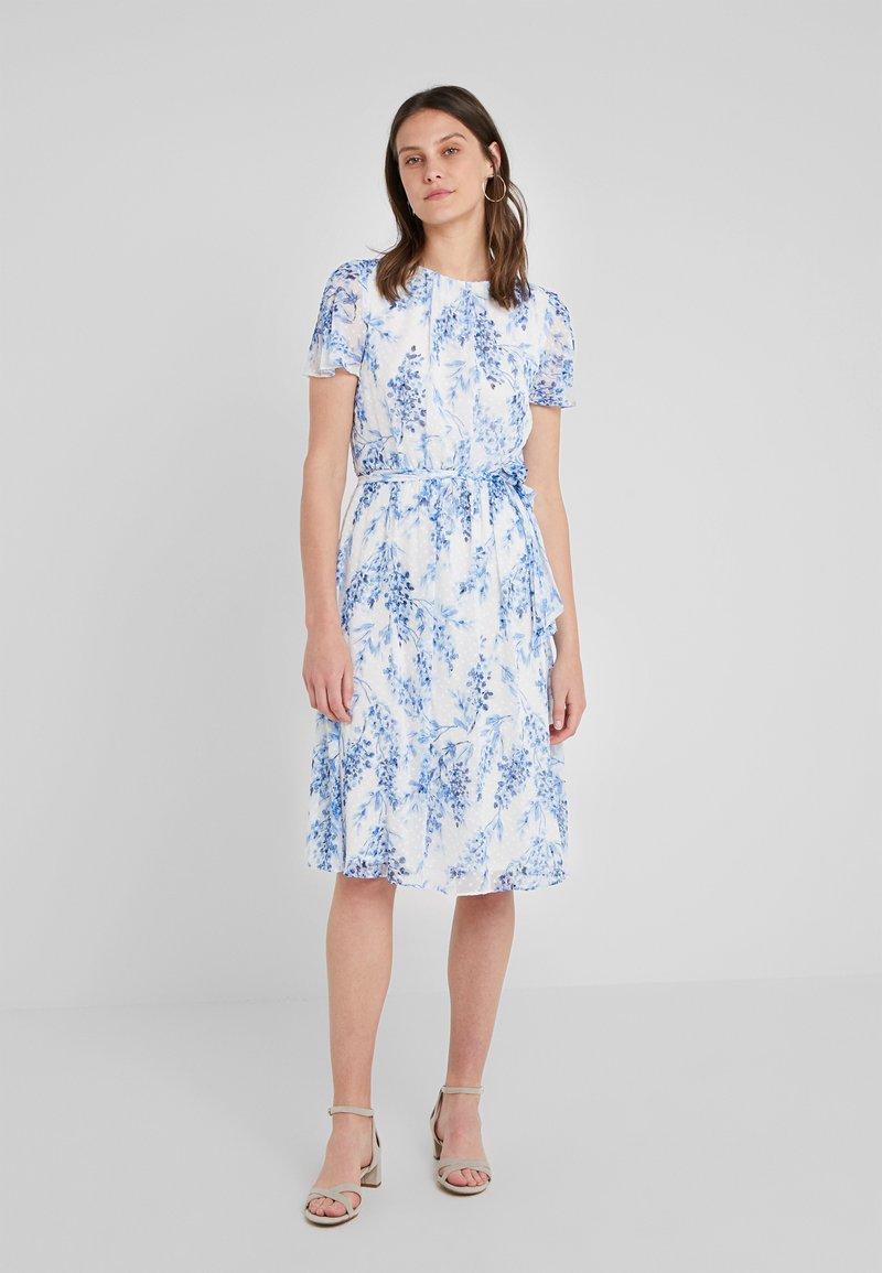 Lauren Ralph Lauren - BRENNEN - Day dress - colonial cream/blue