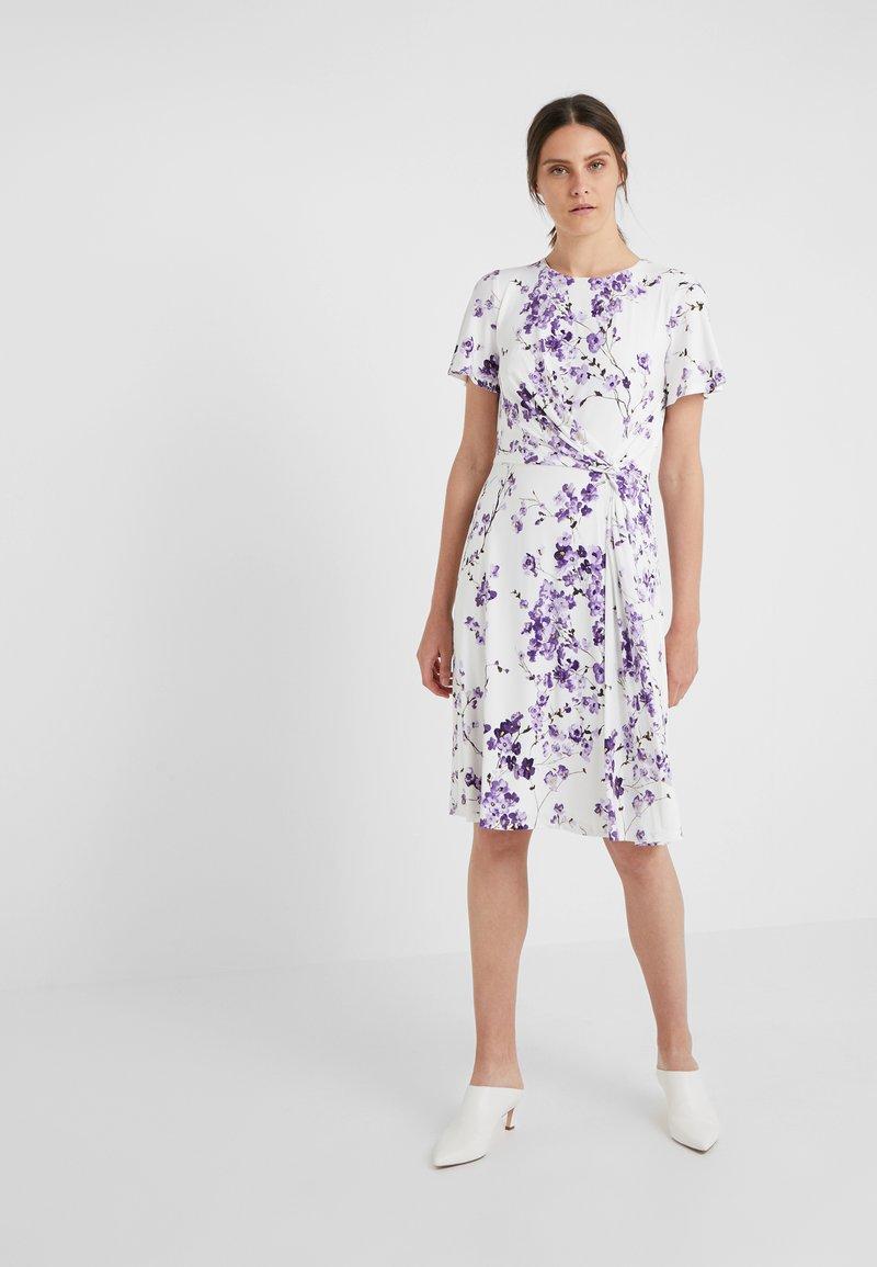 Lauren Ralph Lauren - VEMALYN - Jersey dress - cream/purple