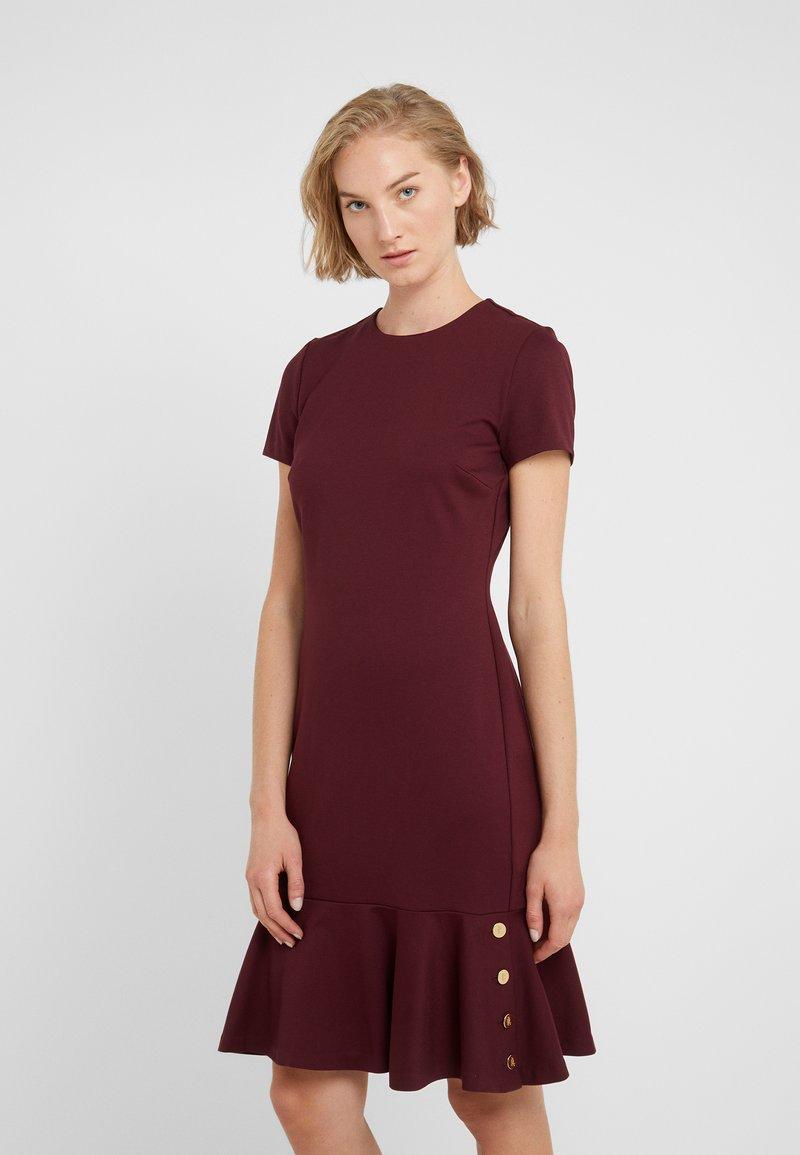Lauren Ralph Lauren - MODERN PONTE  - Jersey dress - pinot noir