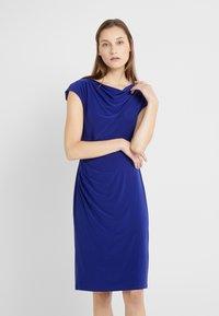 Lauren Ralph Lauren - MID WEIGHT DRESS - Fodralklänning - cannes blue - 0