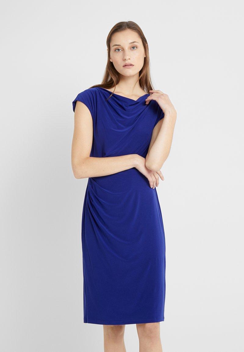 Lauren Ralph Lauren - MID WEIGHT DRESS - Fodralklänning - cannes blue