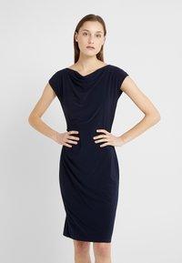 Lauren Ralph Lauren - MID WEIGHT DRESS - Etuikleid - lighthouse navy - 0
