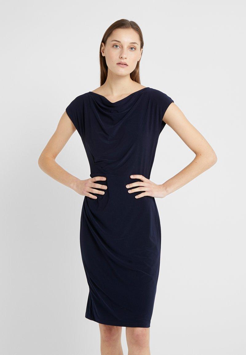 Lauren Ralph Lauren - MID WEIGHT DRESS - Etuikleid - lighthouse navy