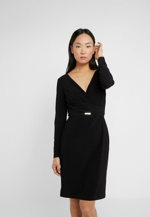 BONDED DRESS - Vestito estivo - black