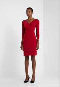 Lauren Ralph Lauren - MID WEIGHT DRESS - Pouzdrové šaty - scarlet red - 1