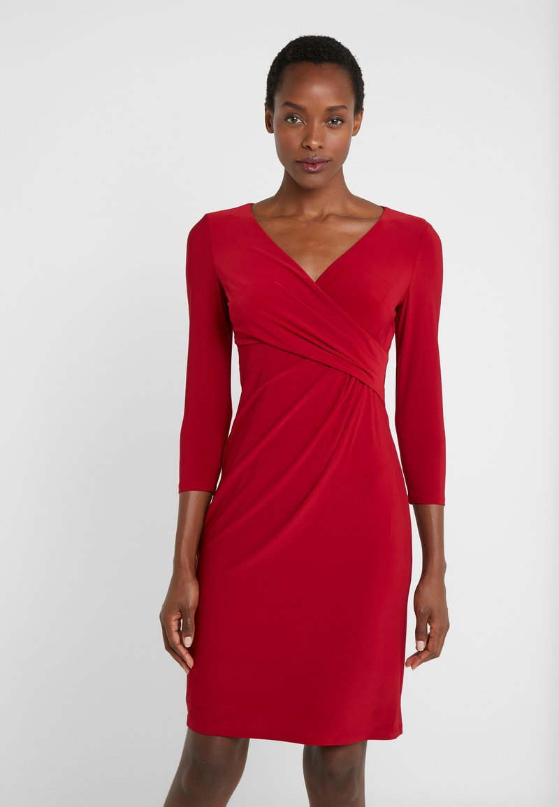 Lauren Ralph Lauren - MID WEIGHT DRESS - Pouzdrové šaty - scarlet red