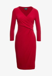 Lauren Ralph Lauren - MID WEIGHT DRESS - Pouzdrové šaty - scarlet red - 4