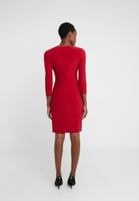 Lauren Ralph Lauren - MID WEIGHT DRESS - Pouzdrové šaty - scarlet red - 2