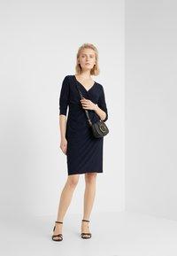 Lauren Ralph Lauren - MID WEIGHT DRESS - Shift dress - lighthouse navy - 1