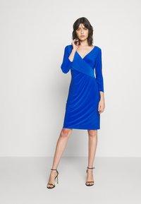 Lauren Ralph Lauren - MID WEIGHT DRESS - Shift dress - sapphire - 1