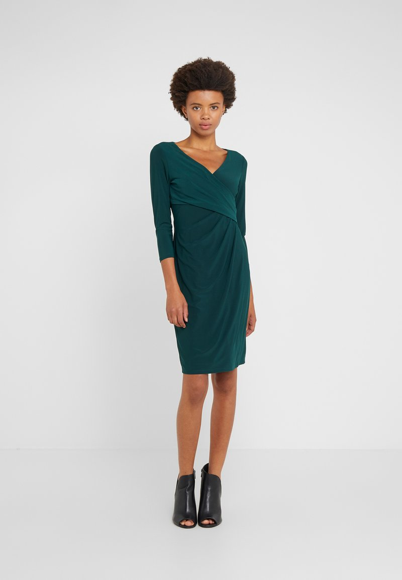Lauren Ralph Lauren - MID WEIGHT DRESS - Shift dress - dark fern