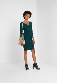 Lauren Ralph Lauren - MID WEIGHT DRESS - Shift dress - dark fern - 1