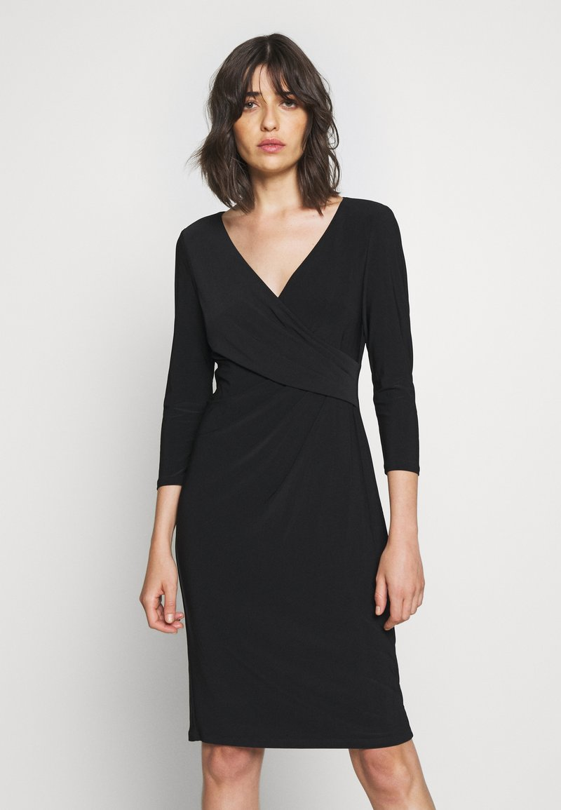 Lauren Ralph Lauren - MID WEIGHT DRESS - Shift dress - black