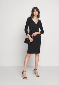 Lauren Ralph Lauren - MID WEIGHT DRESS - Shift dress - black - 1