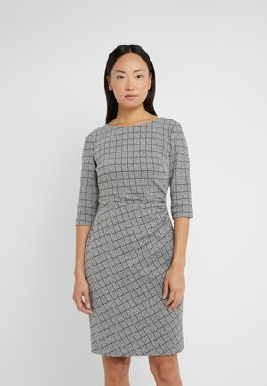 DRESS - Etuikjole - black/white