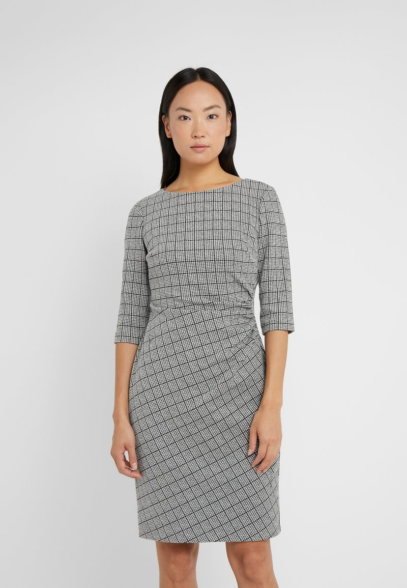 Lauren Ralph Lauren - DRESS - Shift dress - black/white