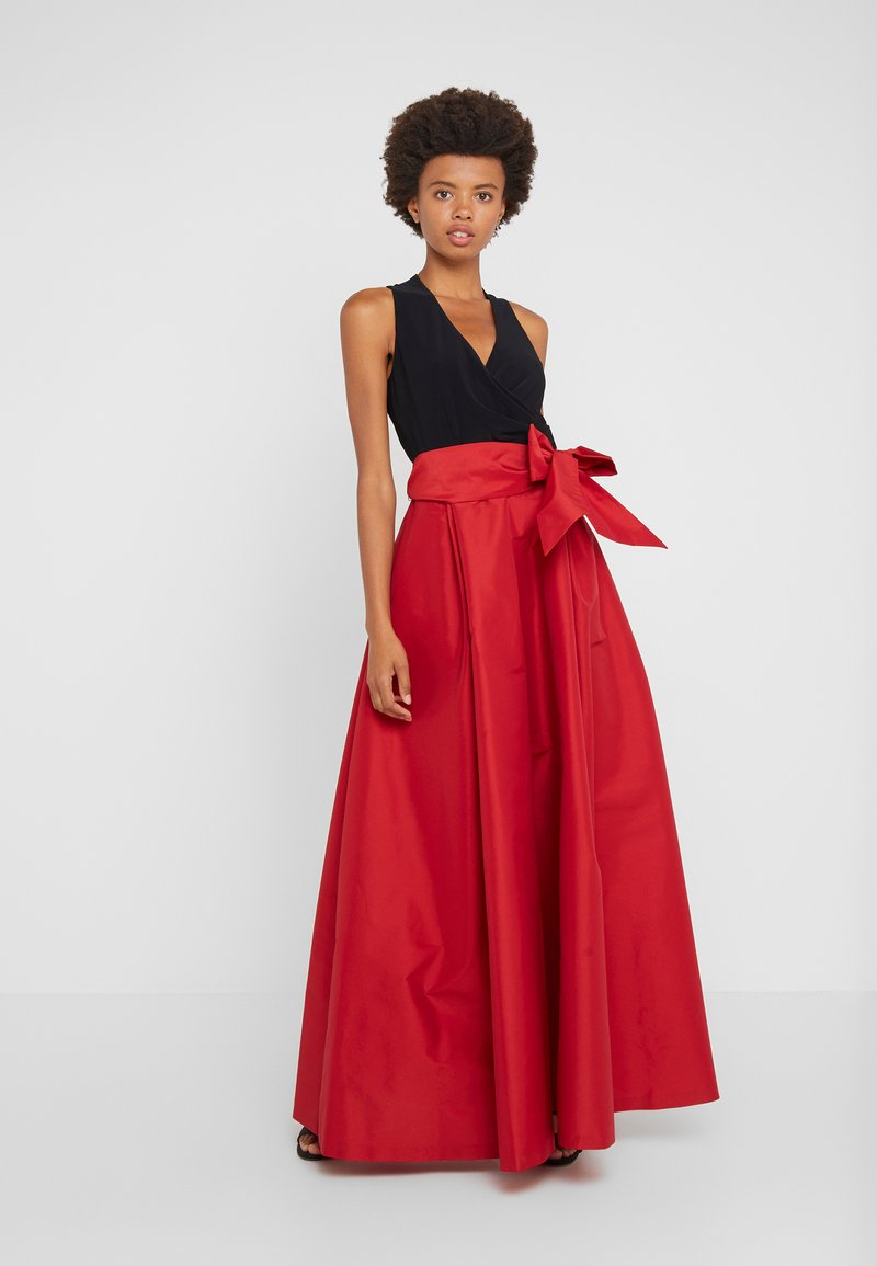 Lauren Ralph Lauren - ATELIER LONG GOWN COMBO - Ballkleid - red/black