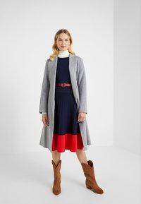 Lauren Ralph Lauren - STRETCH DRESS - Abito in maglia - navy - 1