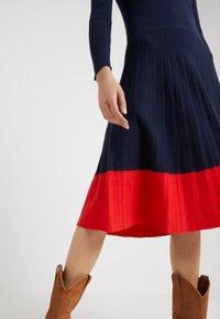 Lauren Ralph Lauren - STRETCH DRESS - Abito in maglia - navy - 4