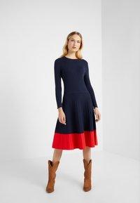 Lauren Ralph Lauren - STRETCH DRESS - Abito in maglia - navy - 0