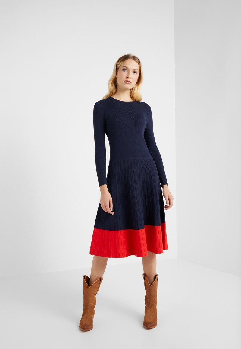 Lauren Ralph Lauren - STRETCH DRESS - Abito in maglia - navy