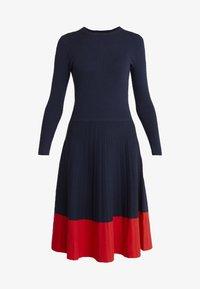Lauren Ralph Lauren - STRETCH DRESS - Abito in maglia - navy - 3