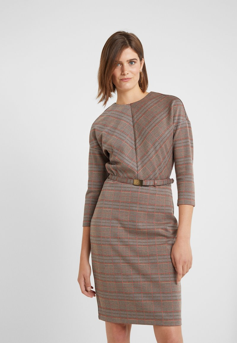 Lauren Ralph Lauren - HUTTON PLAID DRESS - Etuikleid - black/multi