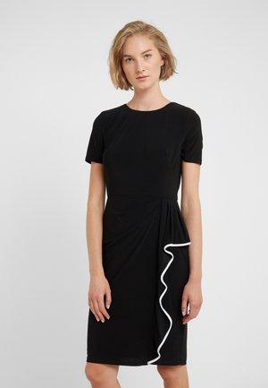 MID WEIGHT TONE DRESS - Etui-jurk - black/white