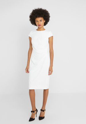 LUXE TECH CREPE DRESS - Robe fourreau - cream