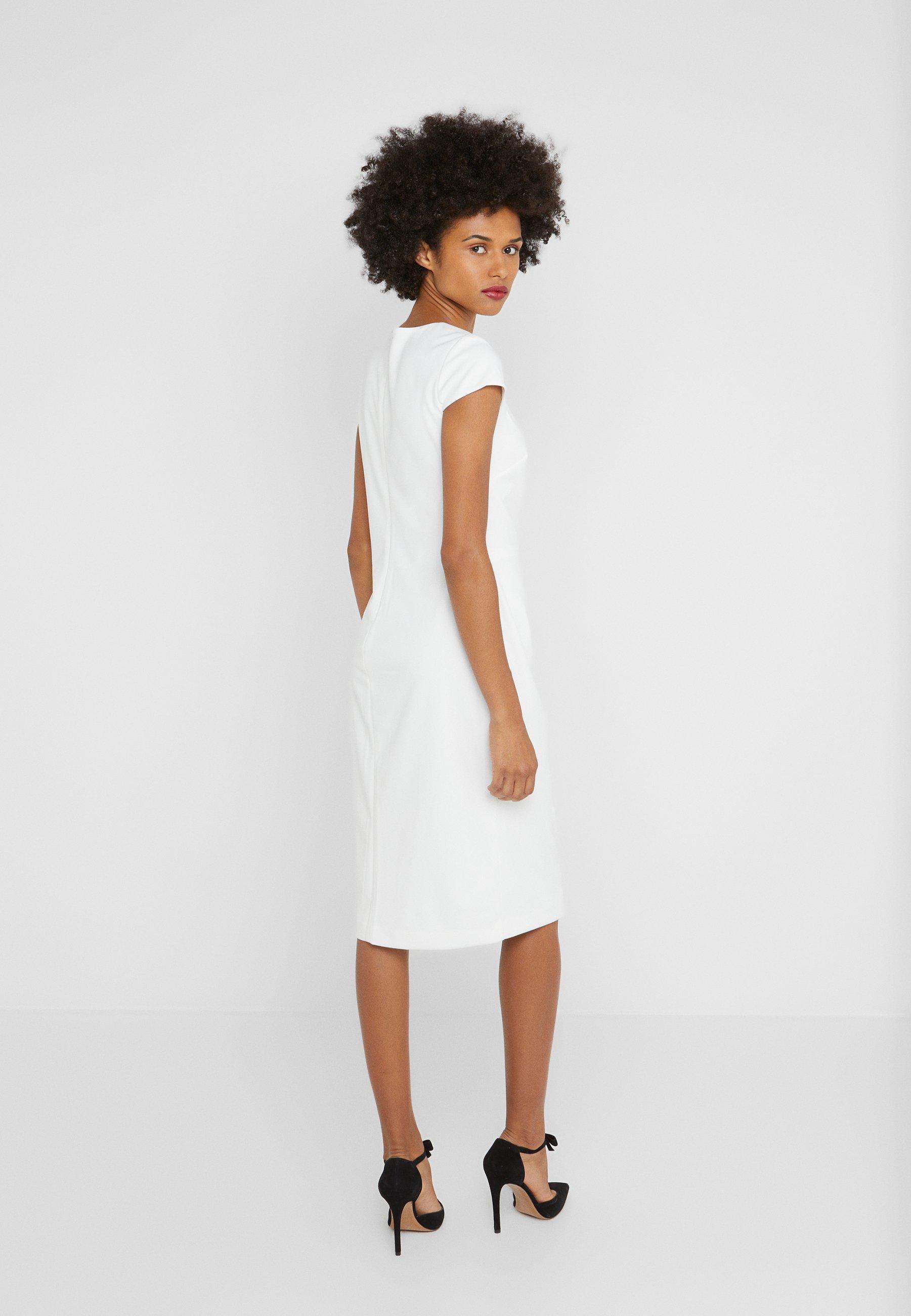 Lauren Ralph Luxe Tech Crepe Dress - Fodralklänning Cream