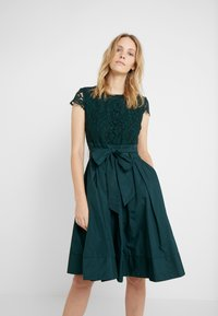 Lauren Ralph Lauren - MEMORY TAFFETA COCKTAIL DRESS - Cocktailjurk - dark fern - 0