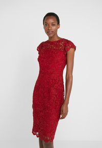 Lauren Ralph Lauren - LITCHFIELD DRESS - Vestido de cóctel - scarlet red - 0