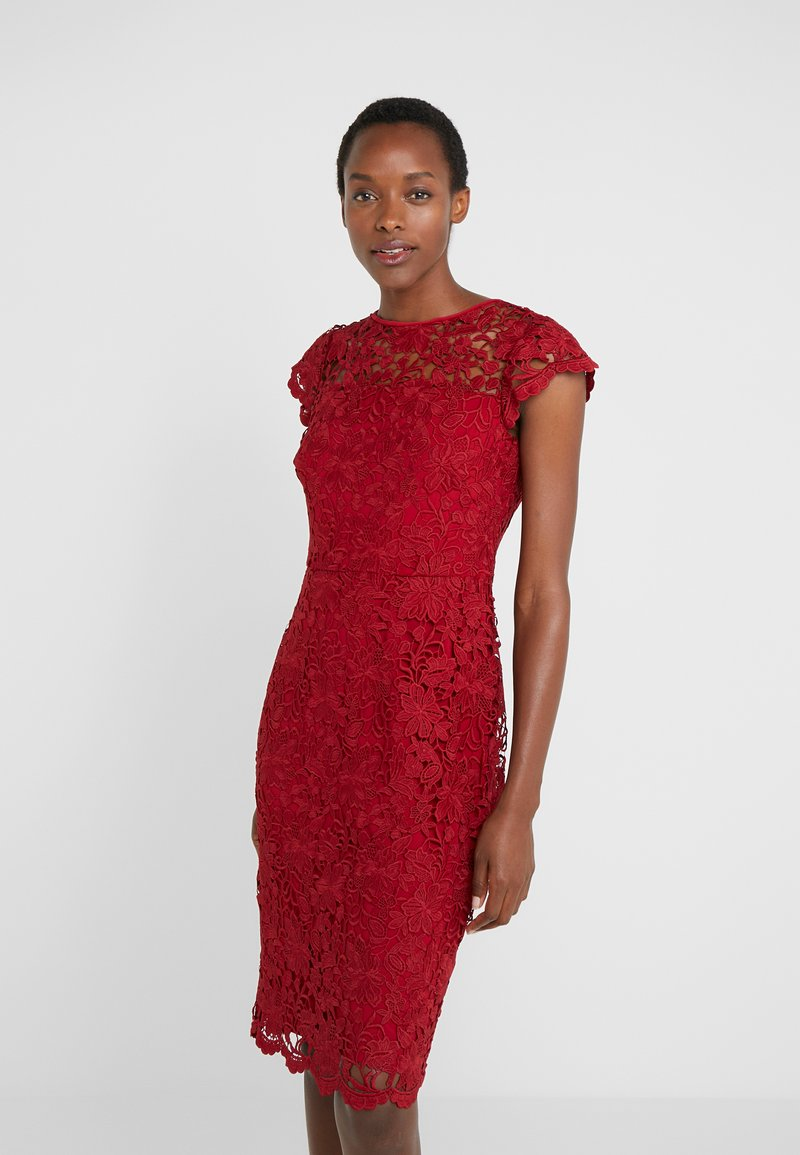 Lauren Ralph Lauren - LITCHFIELD DRESS - Vestido de cóctel - scarlet red